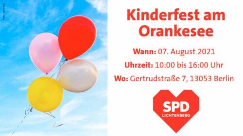 Kinderfest am Orankesee