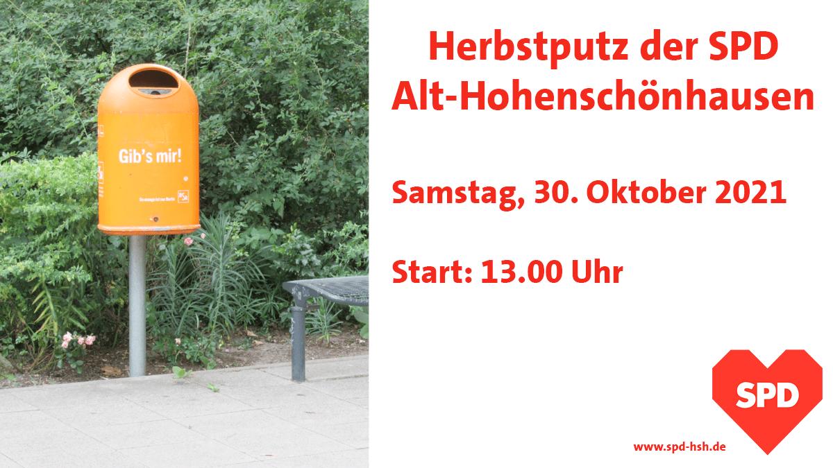 Herbstputz der SPD Alt-Hohenschönhausen